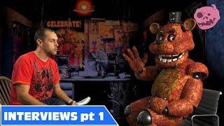 real Fnaf Foxy Bonnie, Freddy Interviews #1