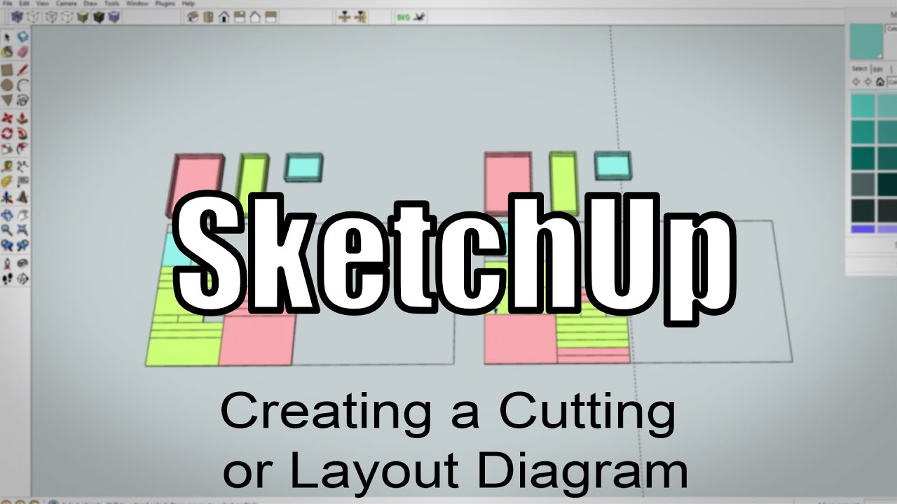 sketchup making a cutting layout for plywood parts 216 [ 1280 x 720 Pixel ]