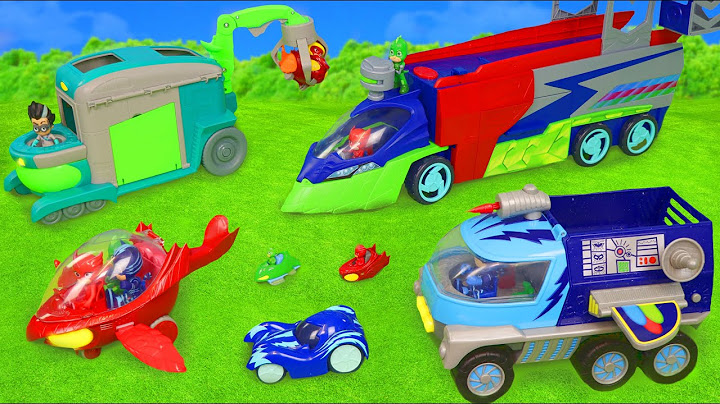 pj masks toys cars from catboy gekko owlette  romeo toy vehicles for kids