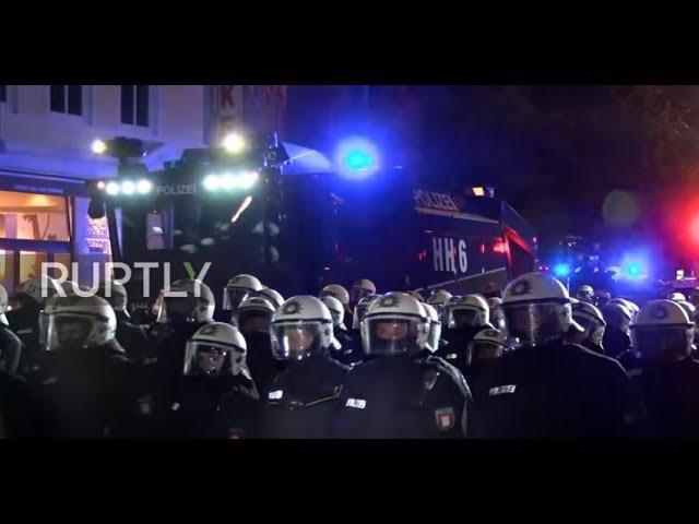 В Германии полиция водометами разогнала противников саммита G20