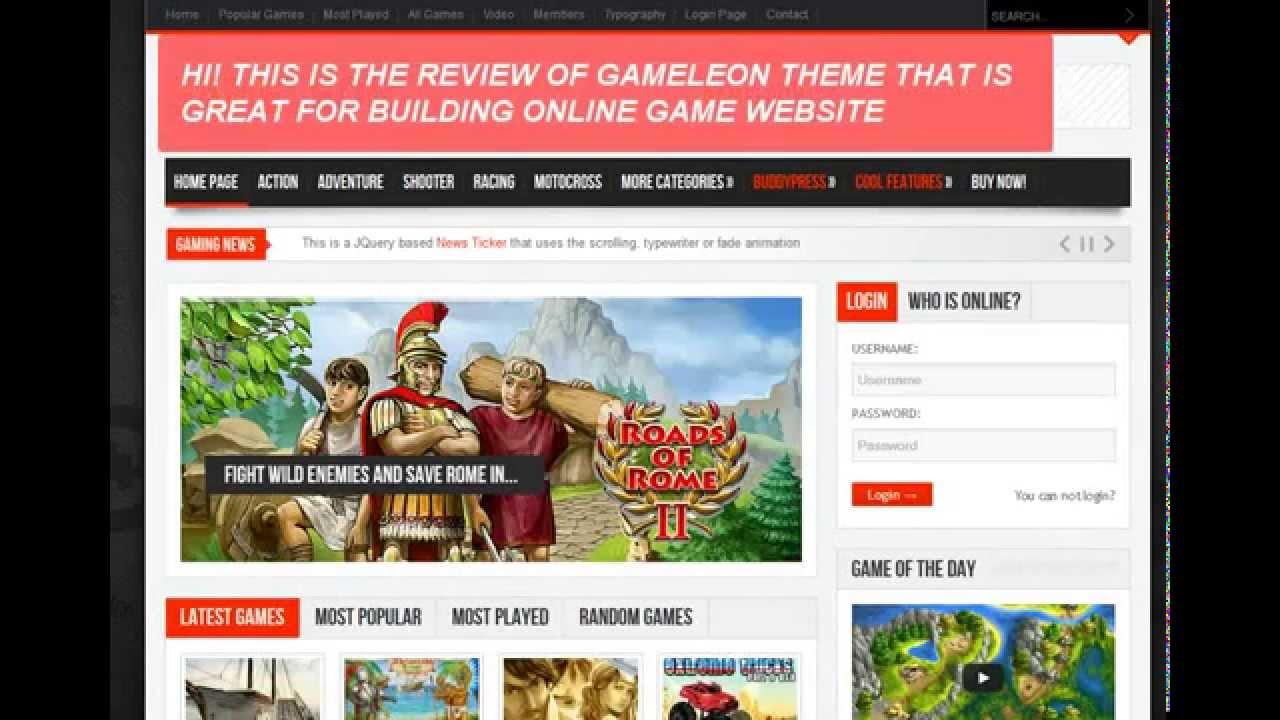 wordpress game theme