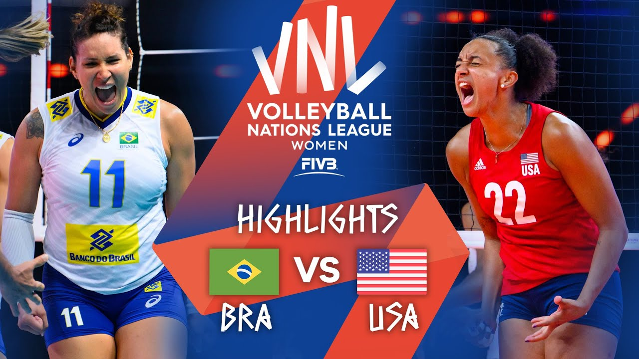 Download BRA vs. USA - Highlights Week 1 | Women's VNL 2021