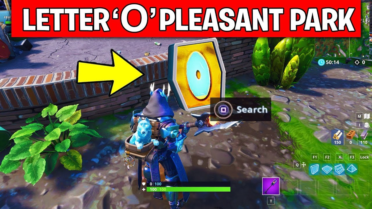 Search The Letter O West Of Pleasant Park Location Week 4