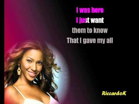 I was here  Beyoncé karaoke