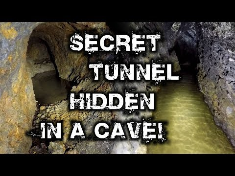 Tip Off  Secret Tunnel Hidden in a Cave!