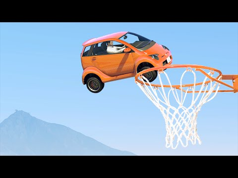 VEHICLE BASKETBALL! (GTA 5 Funny Moments)