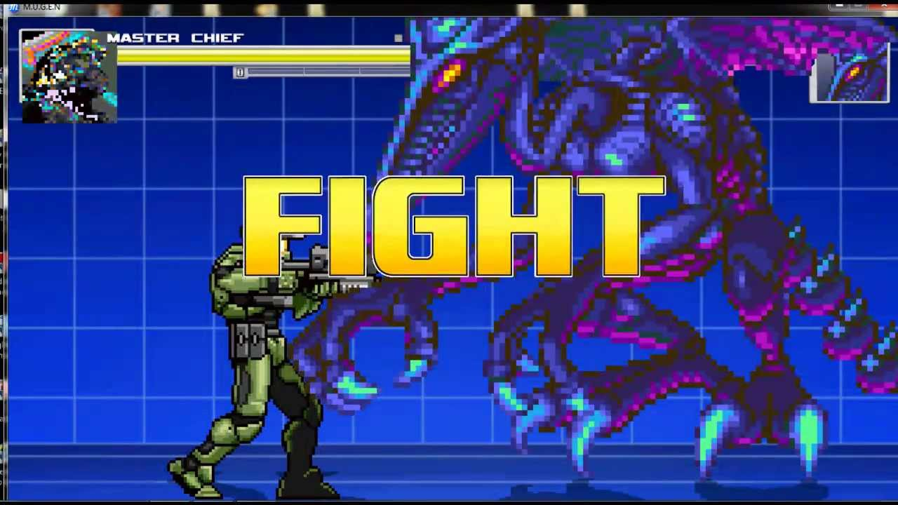 Mugen - Master Chief vs Ridley - YouTube
