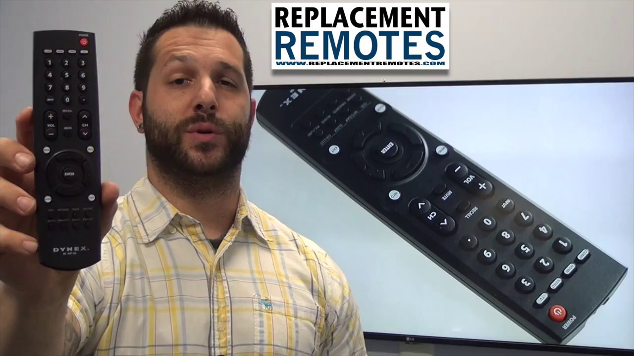 Dynex Rc4010a Tv Remote Control Www Replacementremotes Com Youtube