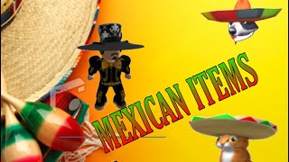 Top 4 Mexican items in Roblox Catalog | ROBLOX