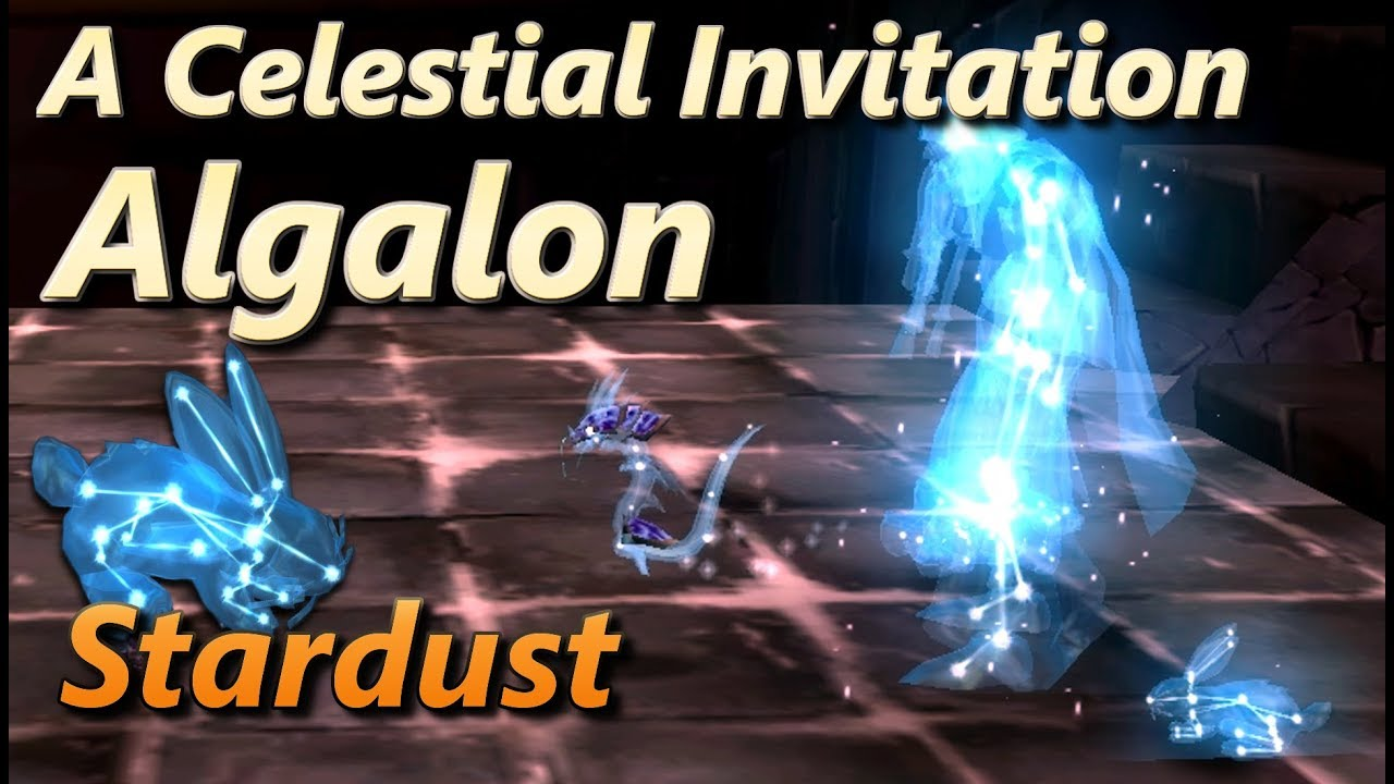 algalon a celestial invitation stardust pet raiding with leashes iv
