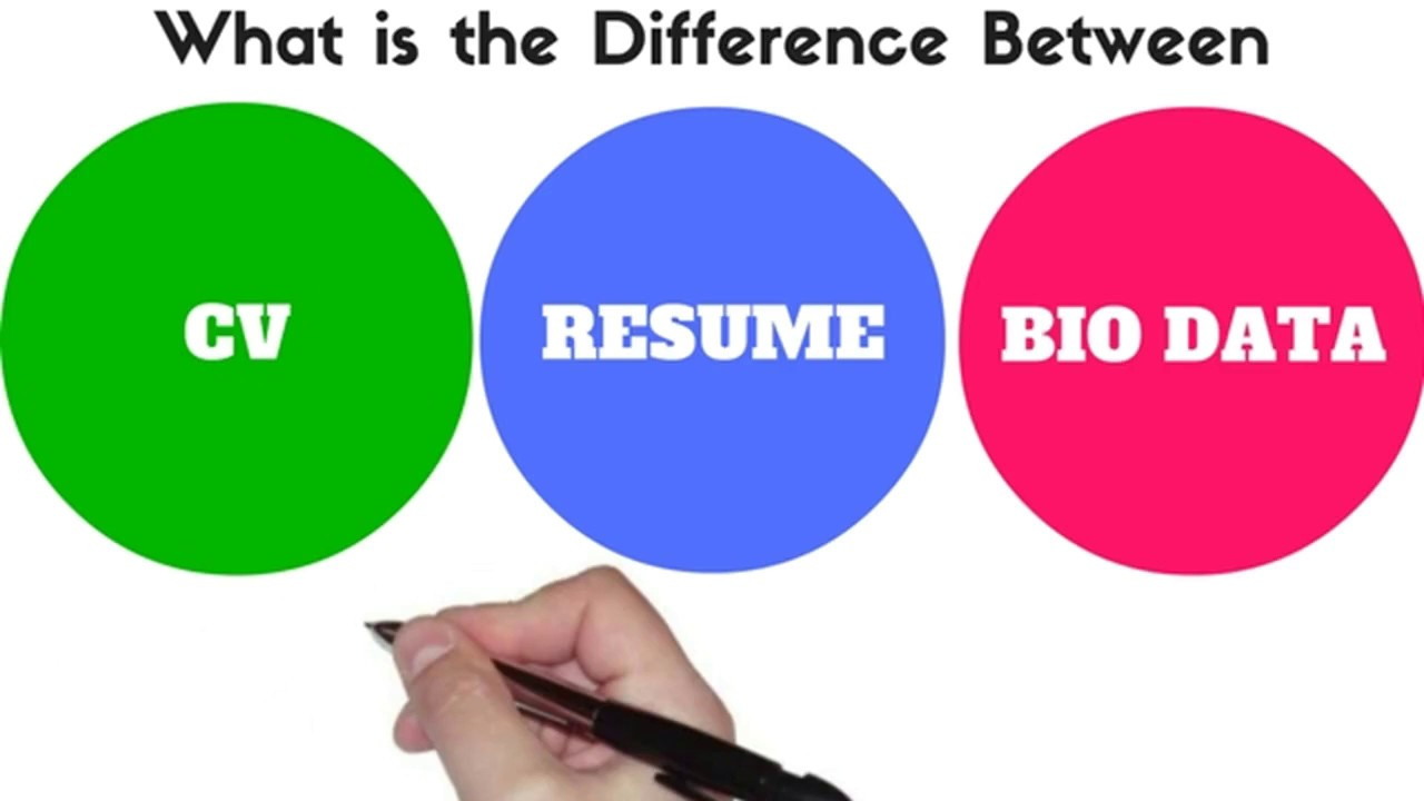 difference between bio data  resume and cv