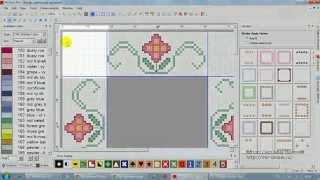 PCStitch Pro 9 - встроенная функция бордюров Borders