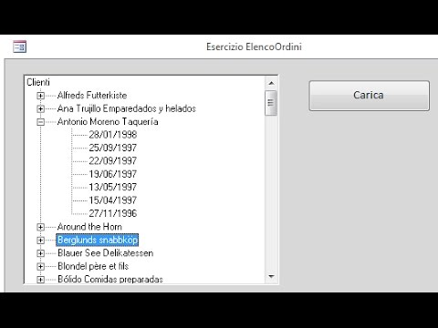 Come usare un controllo treeview in Access