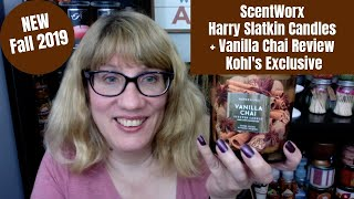 Check out the new scentworx harry slatkin fall 2019 candles! these are a kohl's exclusive and i picked up vanilla chai to review too. #scentwork #harryslatkin