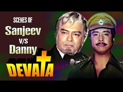 Rivalry Scenes of Sanjeev Kumar & Danny | Jukebox - Devata Movie
