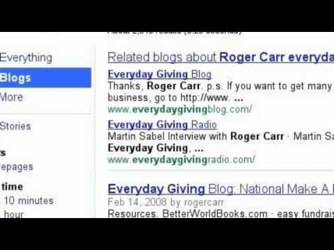 Roger Carr everyday giving