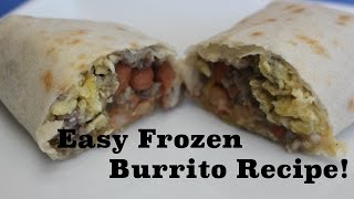 Easy Frozen Burrito Recipe! Toddler & Kid friendly! Less than $1/burrito! Thumbnail