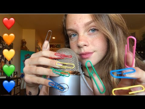 ASMR Tapping with Paper Clip Nails