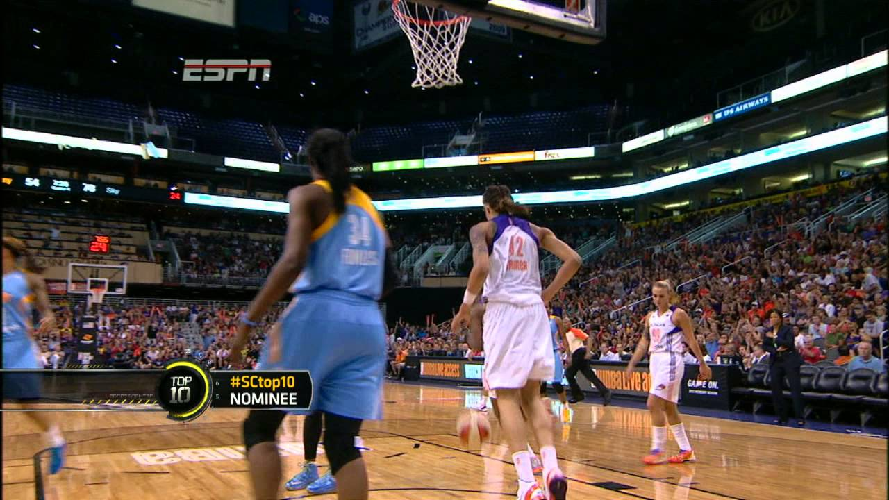 Brittney Griner Dunks in WNBA Debut - YouTube 45b85f1430