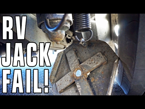 Hydraulic RV Jack Fail! Four Lessons Learned