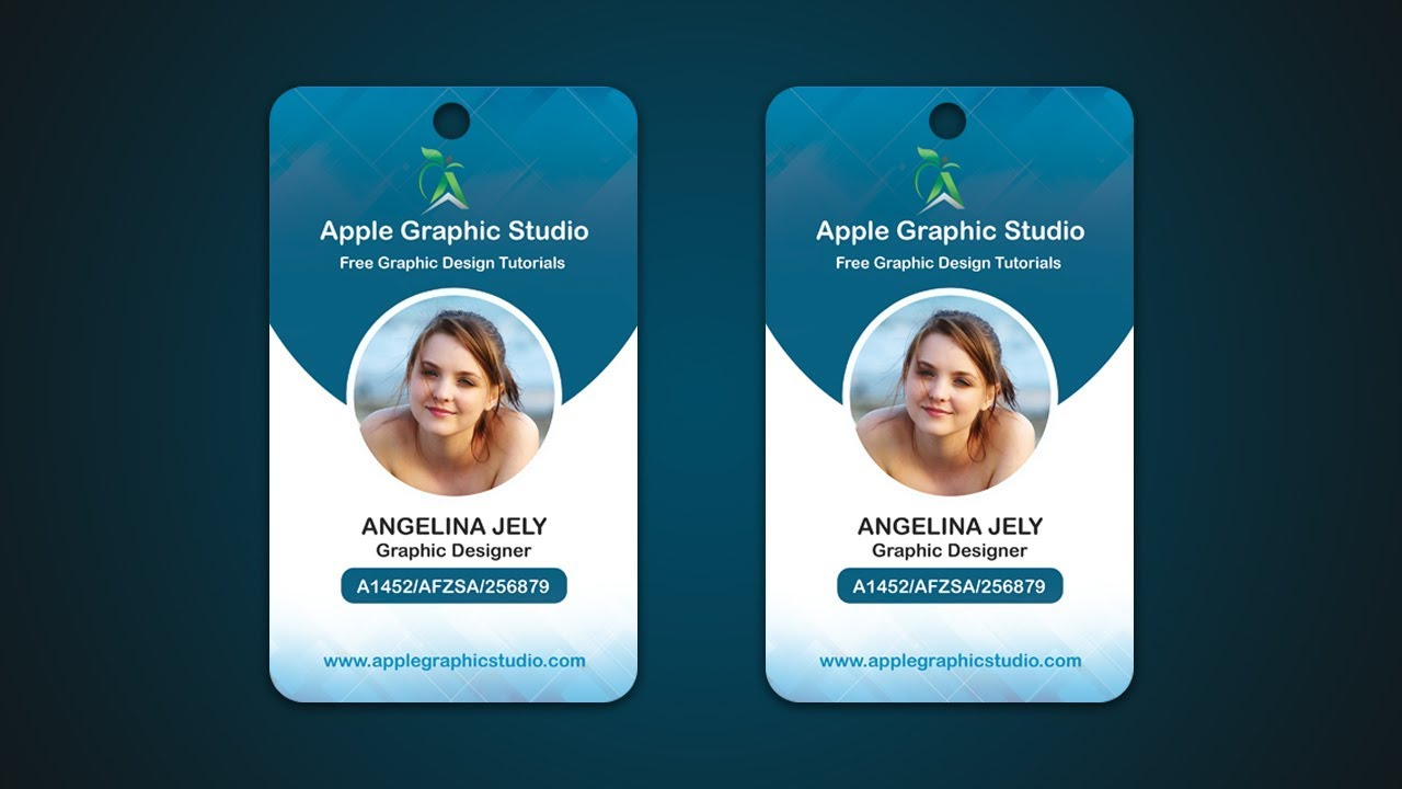 Company ID Card Design Tutorial