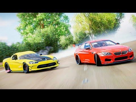 FORZA HORIZON 4 ДРИФТ - ПАРНЫЙ АРАБСКИЙ ДРИФТ НА BMW M6 И DODGE VIPER! КТО ЖЕ УЛЕТИТ В СТОЛБ?! thumbnail
