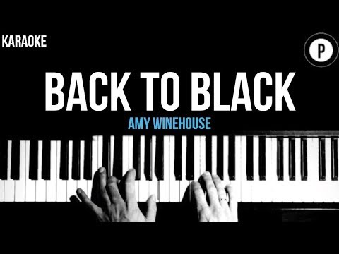 Amy Winehouse - Back To Black Karaoke Slower Acoustic Piano Instrumental  Lyrics