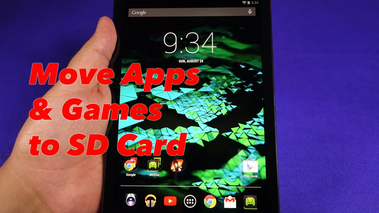 how to move games to sd card on tablet