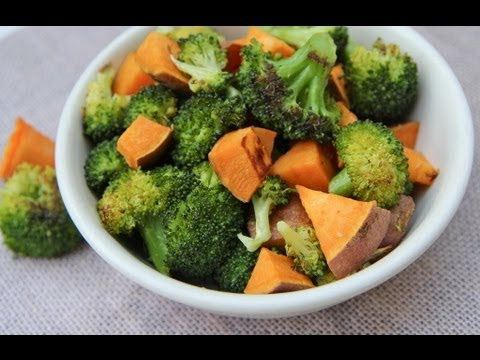 Roasted Broccoli & Sweet Potato Side Dish- My FAV!!!