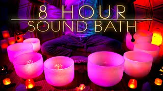 The Soundtrack to Your Dreams | 8 Hours Gentle Crystal Singing Bowls for All Night Sleep | Meditate