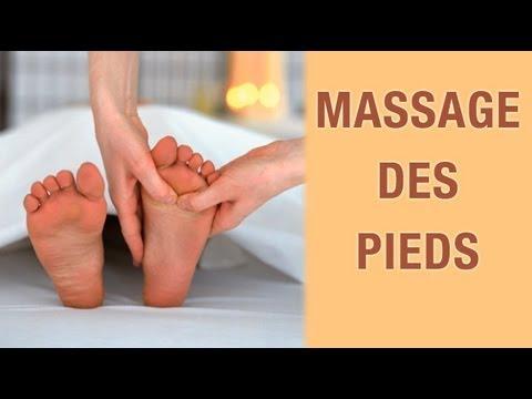Massage des pieds - Réflexologie plantaire - YouTube