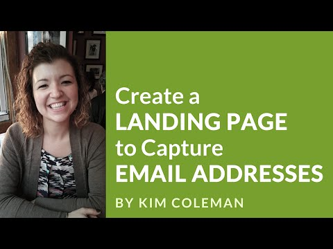 Create a Landing Page to Capture Email Addresses