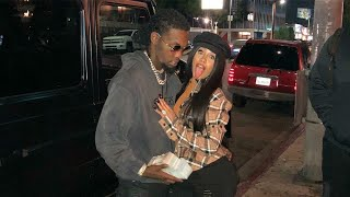 Rapper Cardi B &  fiance rapper Offset of the  Migos