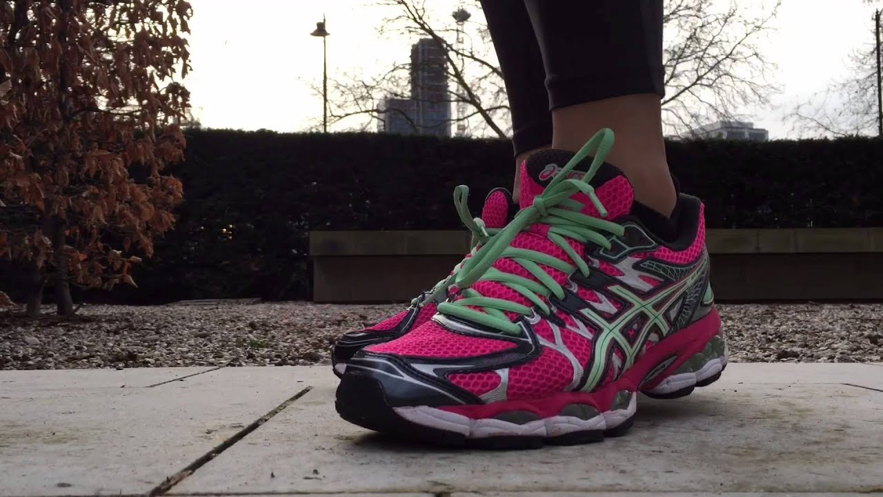 577293657ac8 Women s ASICS Gel Nimbus 16 (Hot Pink Black Green) - YouTube
