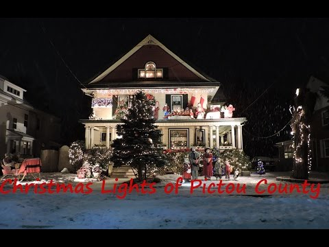 Christmas lights of Pictou County