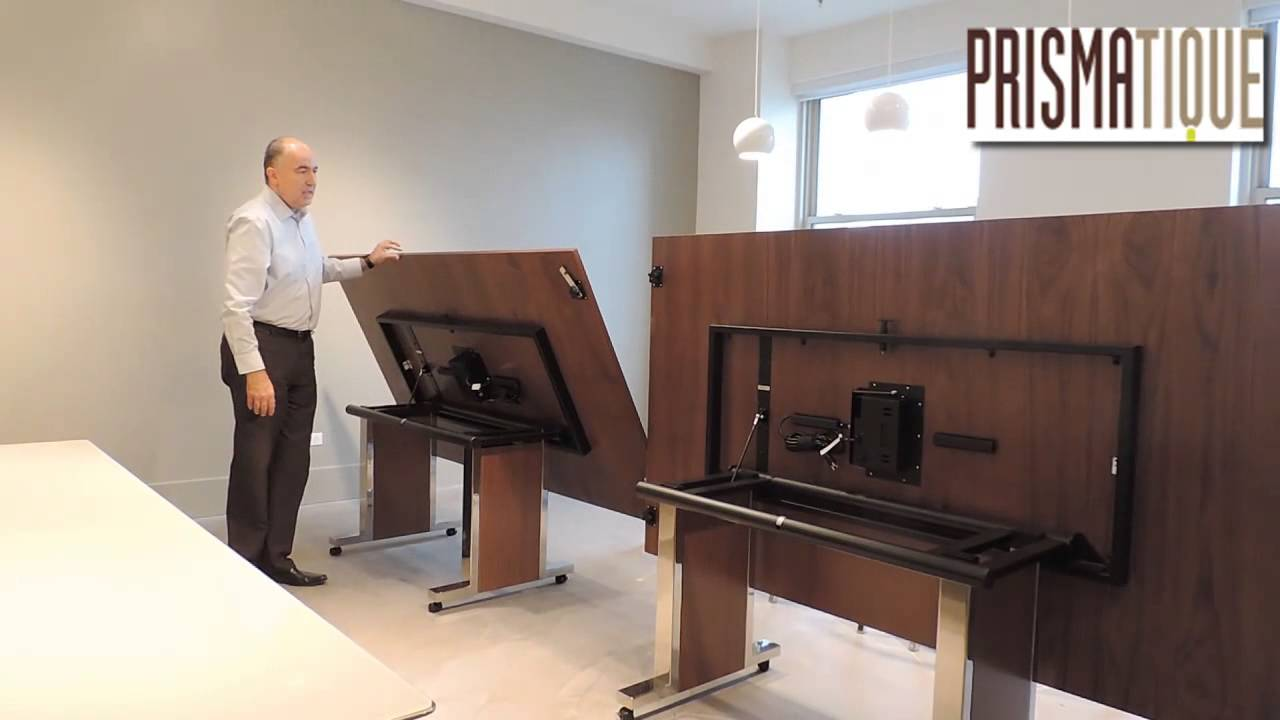 Prismatique XL Flip Top Mobile Conference Demo YouTube - Mobile conference table