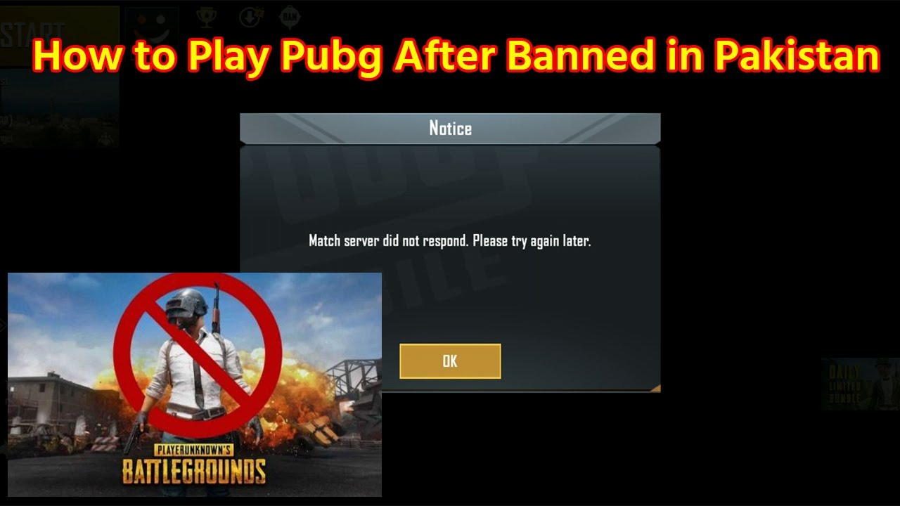 Match Server did not Respond Please Try Again Later | How to Play Pubg After Banned in Pakistan