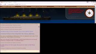 Titanic Voyage 2016 Real Time Sinking + Chat