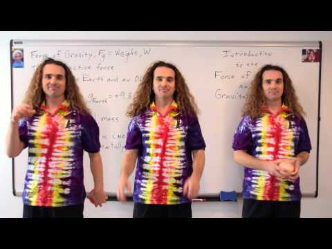 Introduction to the Force of Gravity and Gravitational Mass