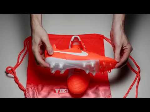Nike Tiempo Legend V FG Soccer Cleats - Total Crimson and White