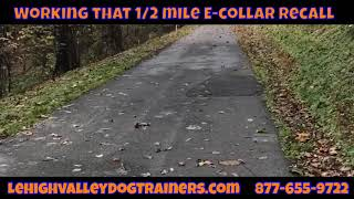 """1/2 mile recall """"Come""""