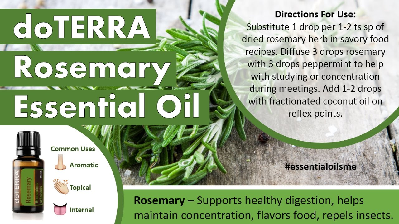 Rockin doTERRA Rosemary Essential Oil Uses - YouTube