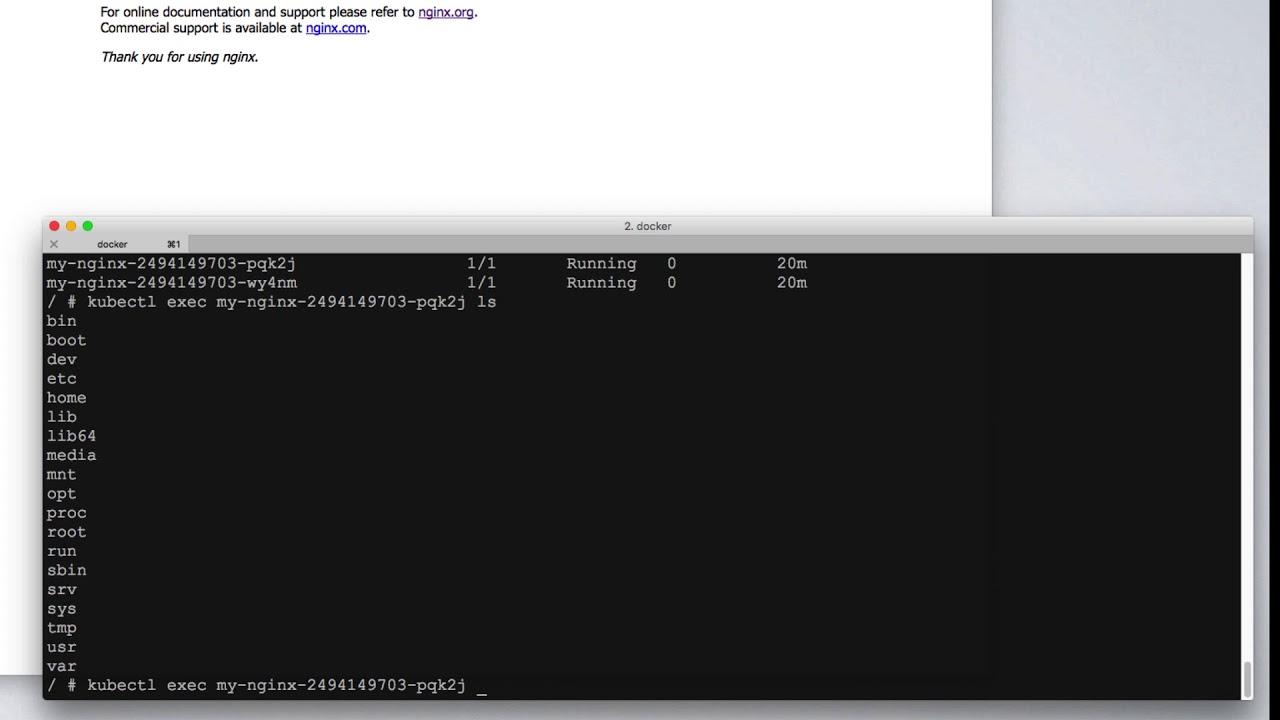 kubernetes bootcamp: exec