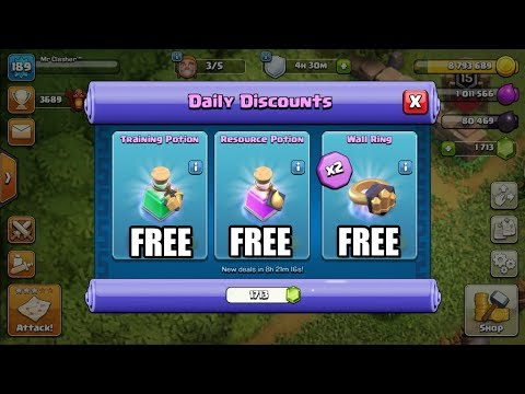 Clash Of Clans - HOW TO GET FREE TRADER MAGIC ITEMS!