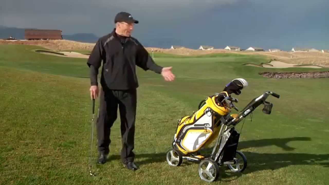 Sun Mountain Micro Cart Golf Push Cart Youtube