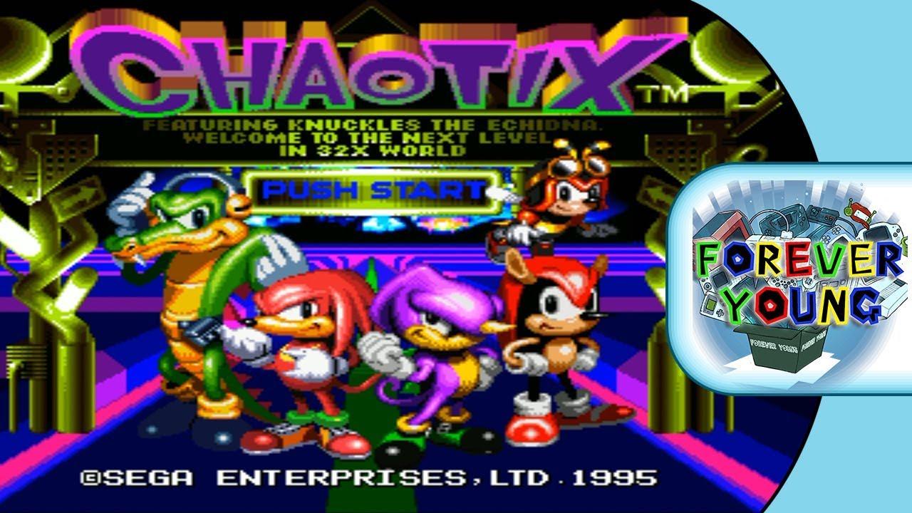 Knuckles CHAOTIX 32X 1995 - Sega 32X - Genesis 32X - Mega Drive 32X - Forever Young