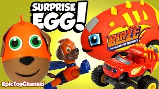 SURPRISE EGGS! Paw Patrol VS Blaze & The Monster Machines Surprises with Disney Cars Toys Surprises