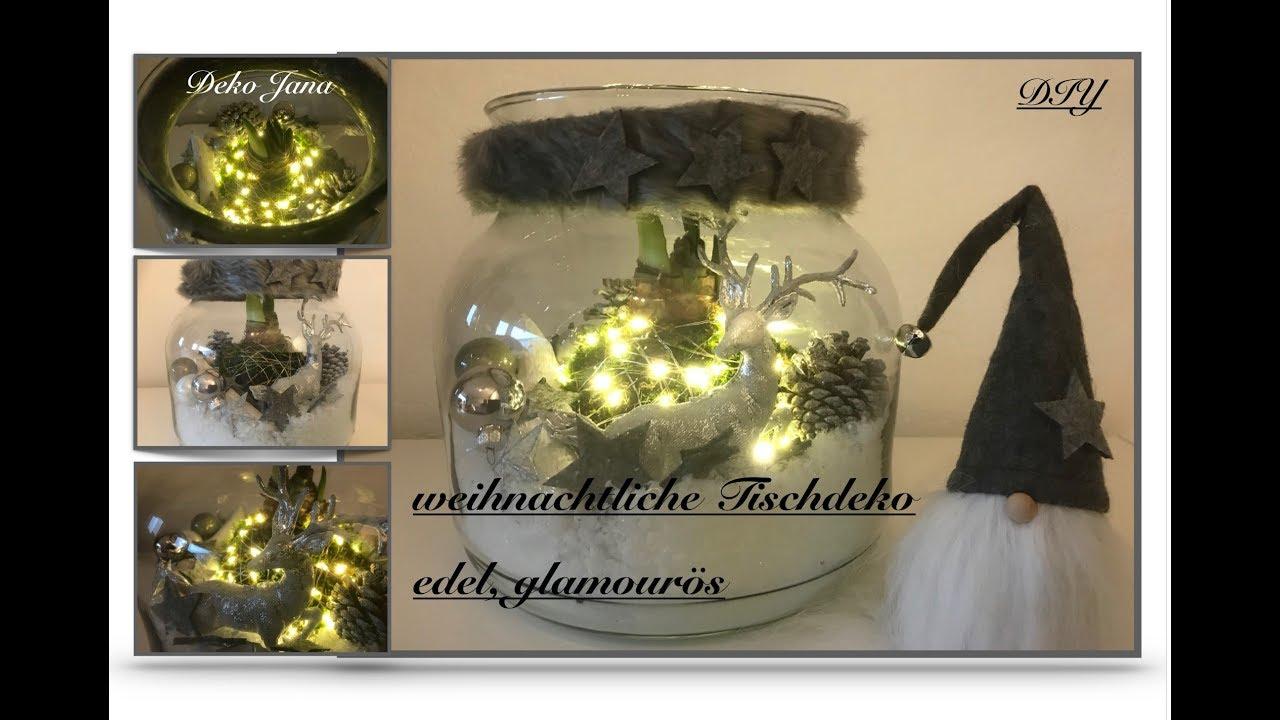 Diy Windlicht Mit Leuchtender Amaryllis Variante 2 Glamourose