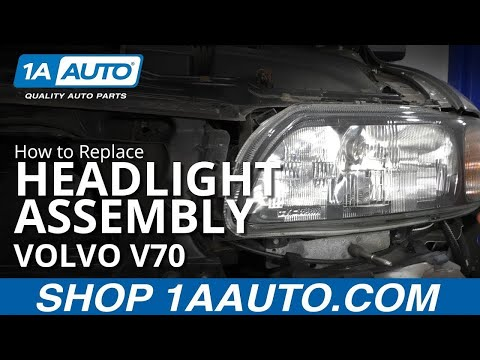 How to Replace Headlight Assembly 01-04 Volvo V70