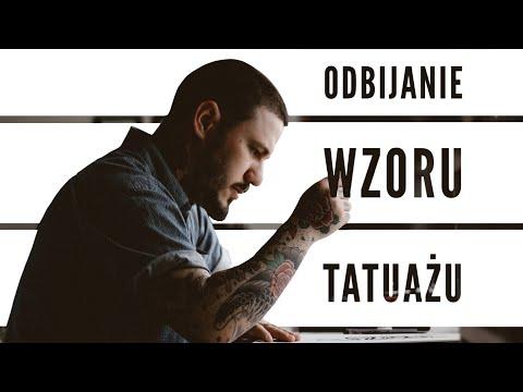 Odbijanie Wzoru Tatuażu Na Skórze 8 Kalkowanie